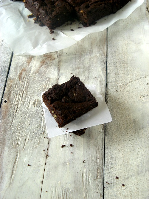 Eggless Decadent Orange Zest Brownie