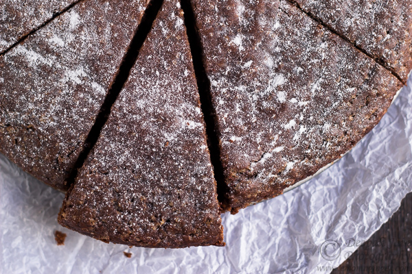 Eggless Whole Wheat Chocolate Wine Cake