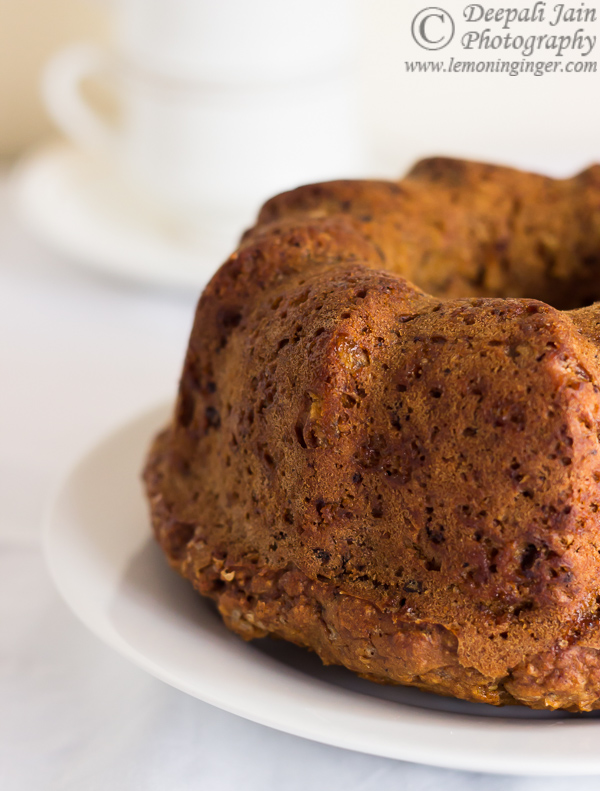 Eggless Whole Wheat Carrot and Orange Zest Bundt Cake