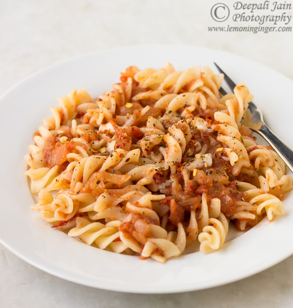 Pasta with Pizza Sauce