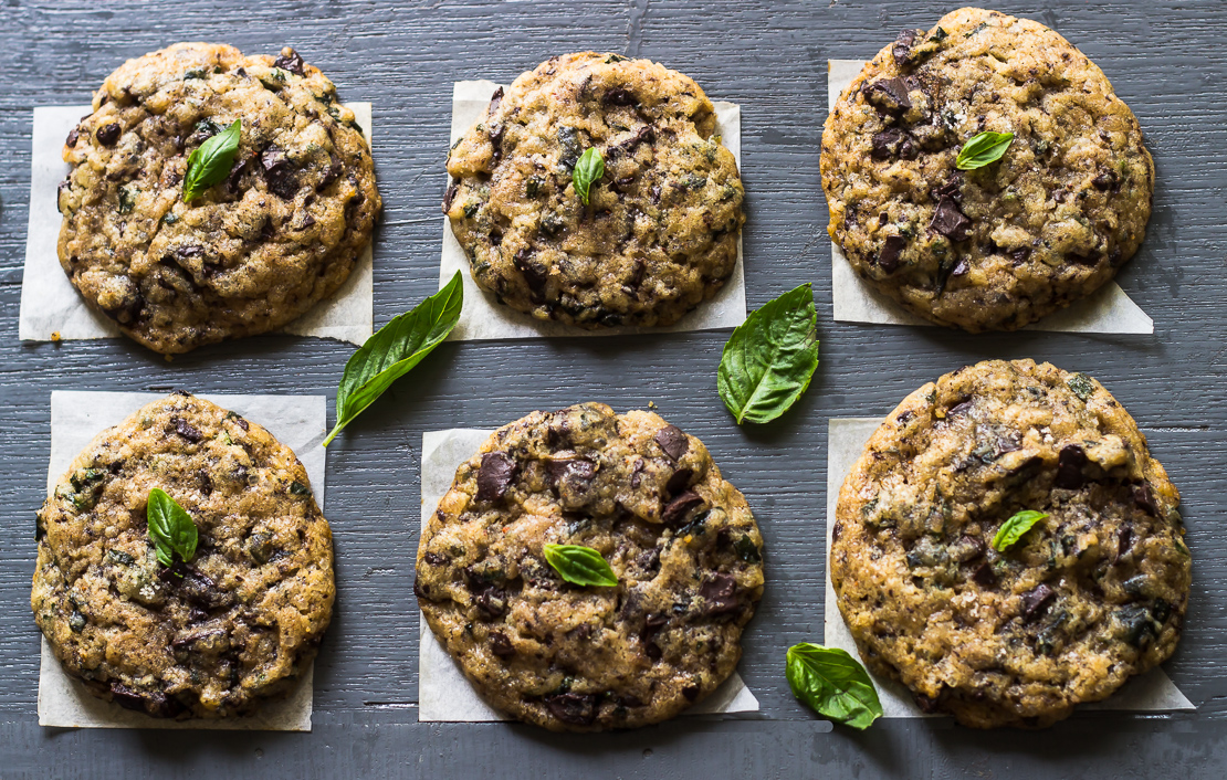 Basil Chocolate Chunky Cookies