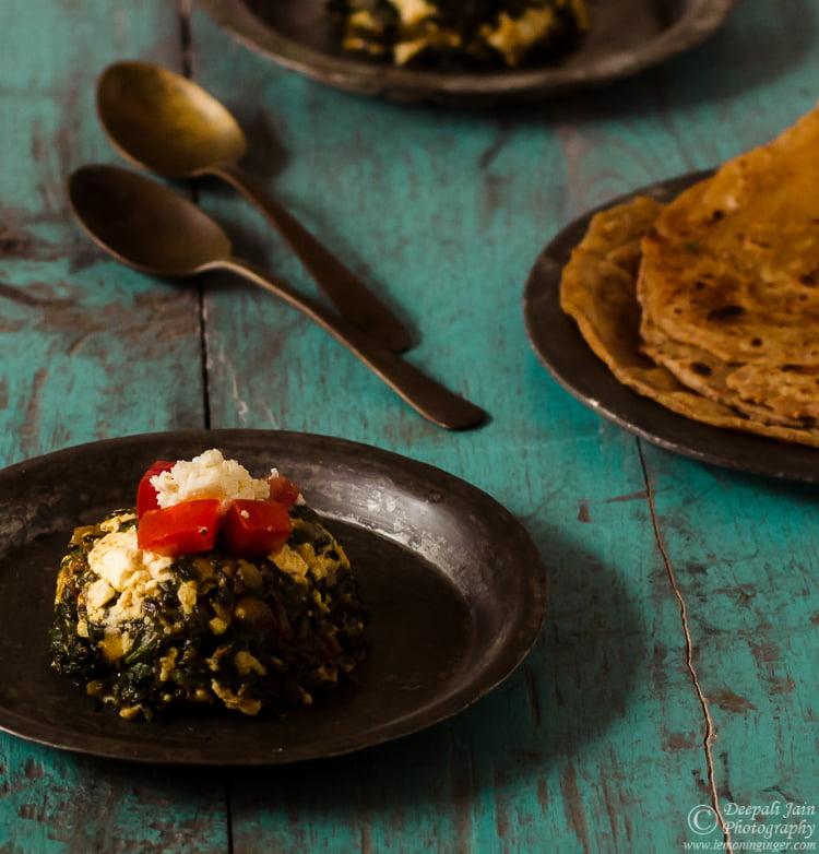 Palak (Spinach) Paneer Bhurji