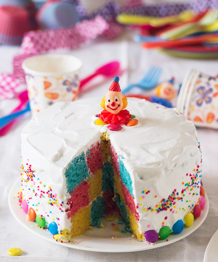 Rainbow Checkerboard Cake