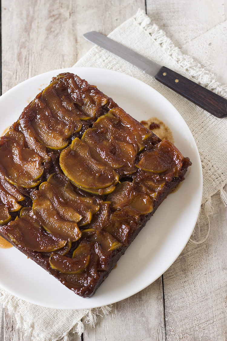 Toffee Apple Upside-Down Cake
