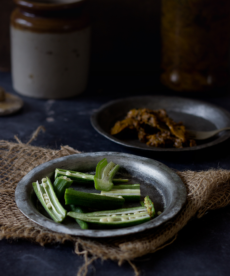 Instant Okra Pickle