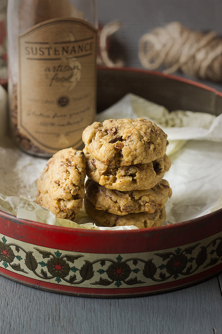 Hazelnut Chocolate Granola Cookies