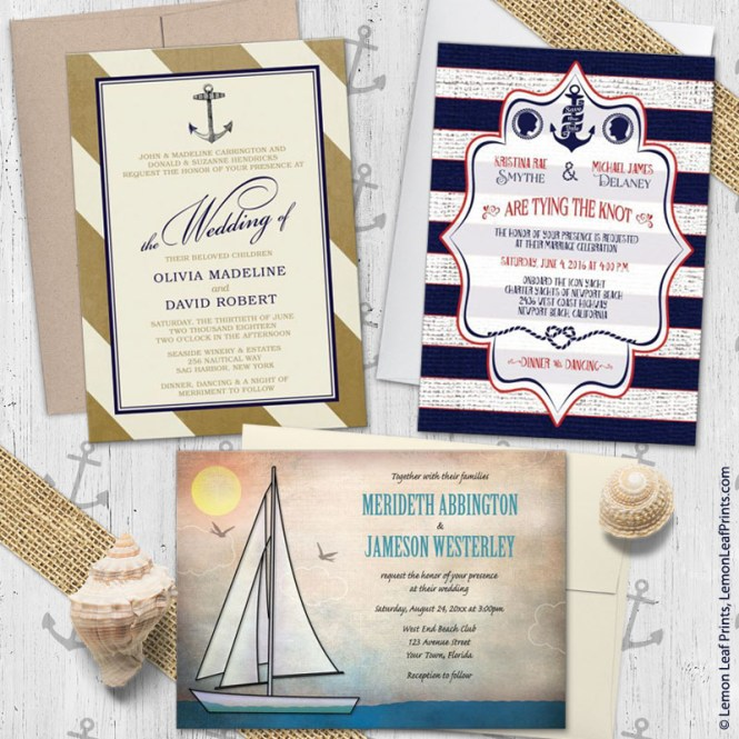 Read More Nautical Wedding Invitations With Old Anchor