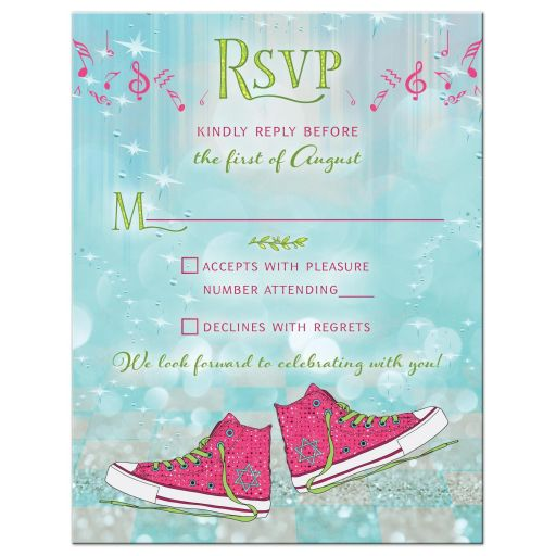 Converse Sneakers Ballroom Bat Mitzvah RSVP Card