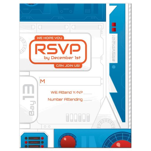 Sci-fi Space Movie Bar Mitzvah RSVP Card