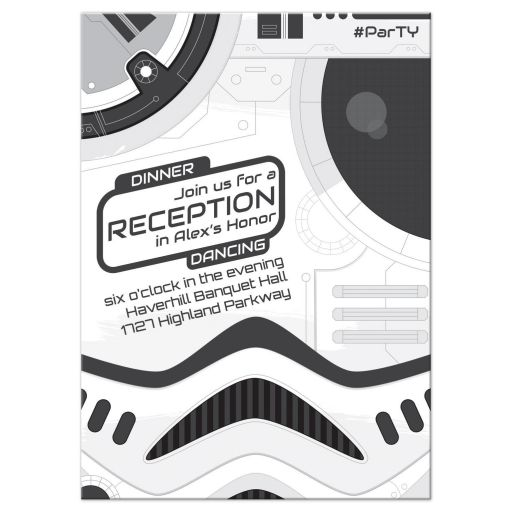 Sci-fi Space Movie Bar Mitzvah Reception Card