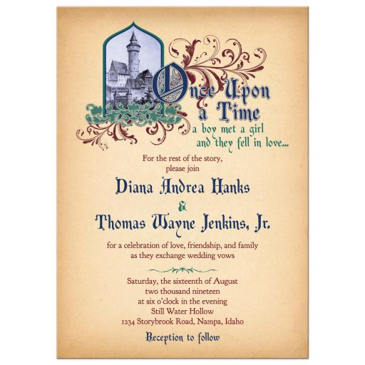 Medieval Wedding Invitation Wording: Party Simplicity Fairy Tale Wedding Invitations With