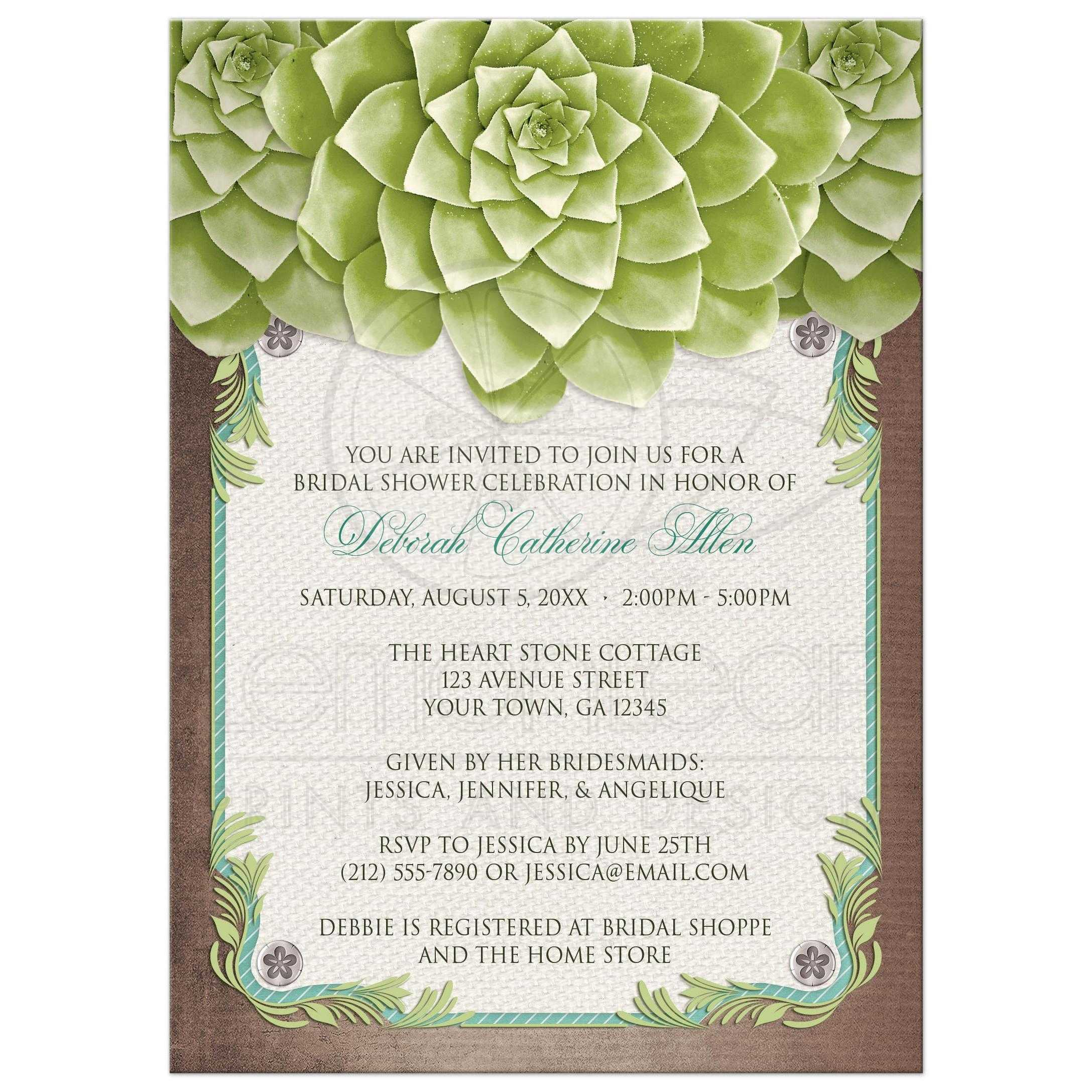 Bridal Shower Invitations Matching Recipe Cards
