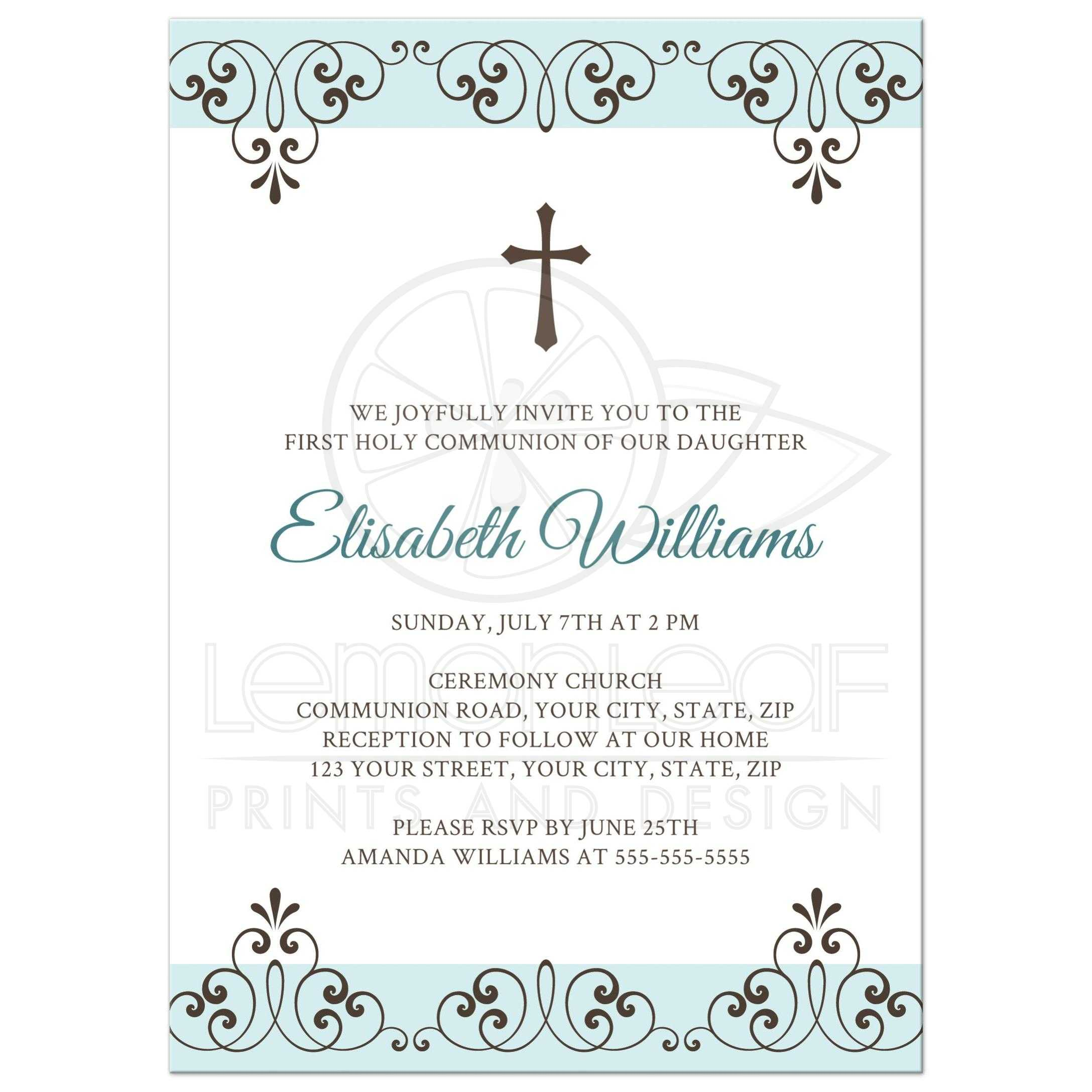 Personalized Invitation Card Christening