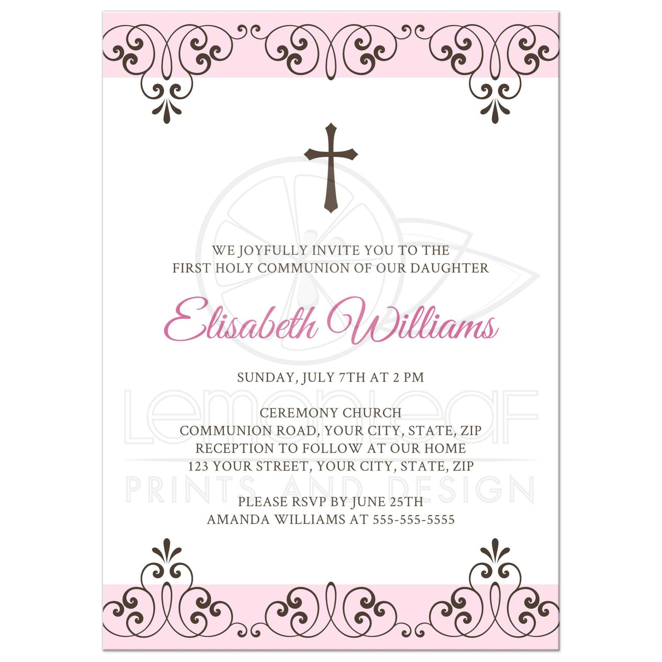 Homemade Baptism Invitations Ideas