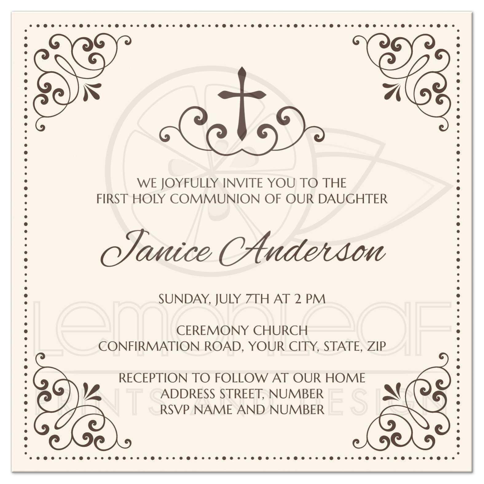 Baptism Invitations Religious Wording