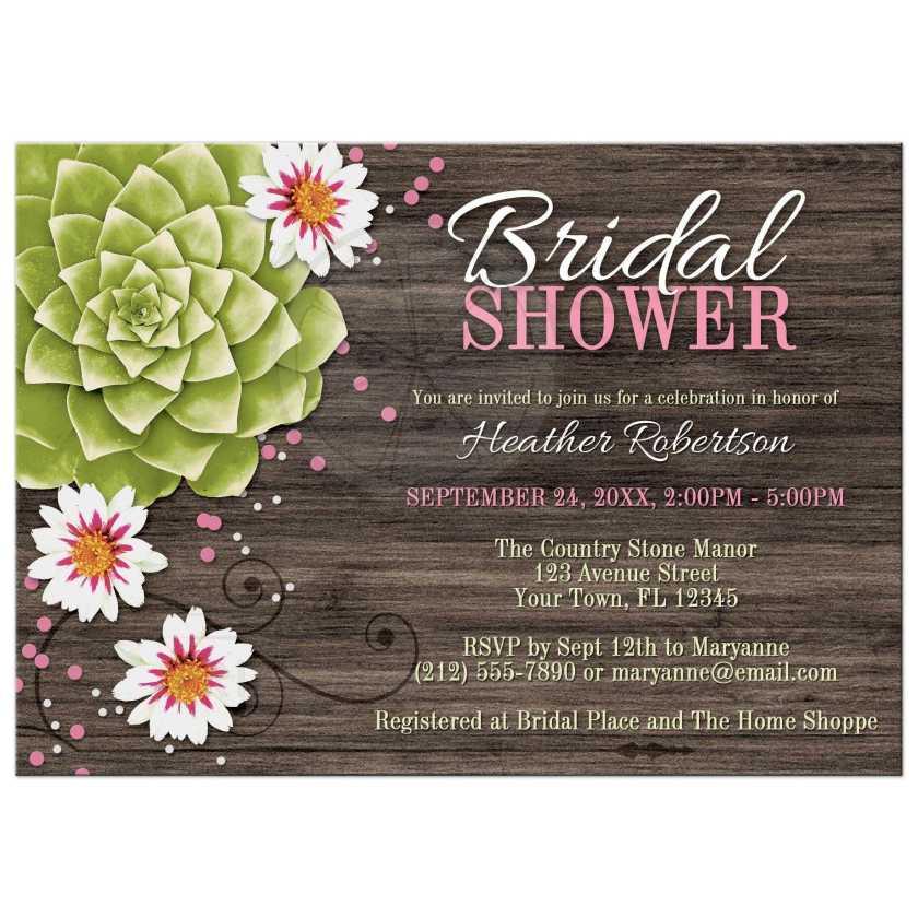 Rustic Bridal Shower Invitations Plumegiant