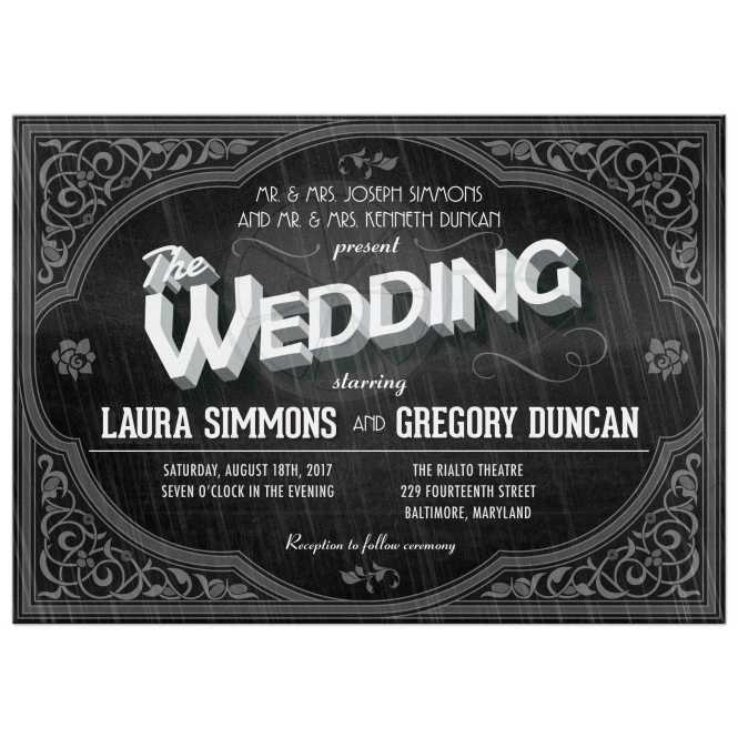 The Wedding Movie Poster Themed Invitation