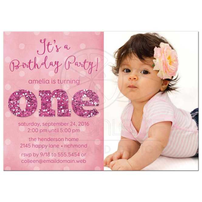 1st Birthday Party Card Design