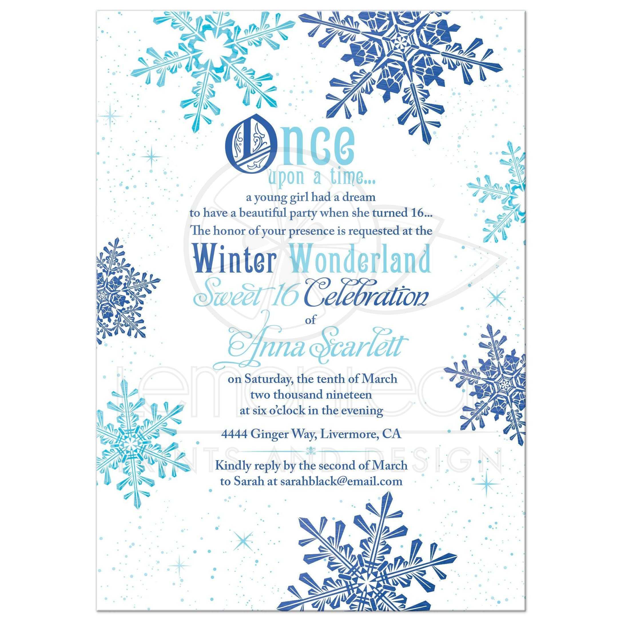 Winter Wonderland Invitations Blank