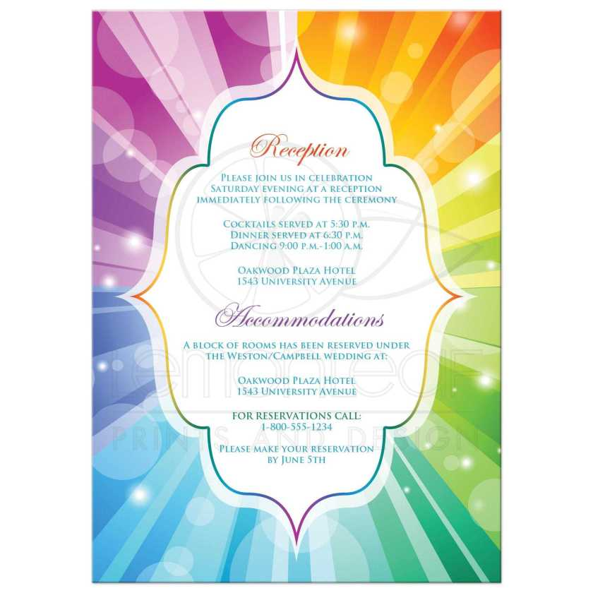 Rainbow Wedding Invitations Which Unique And Suitable For Stunning Invitation Card 537