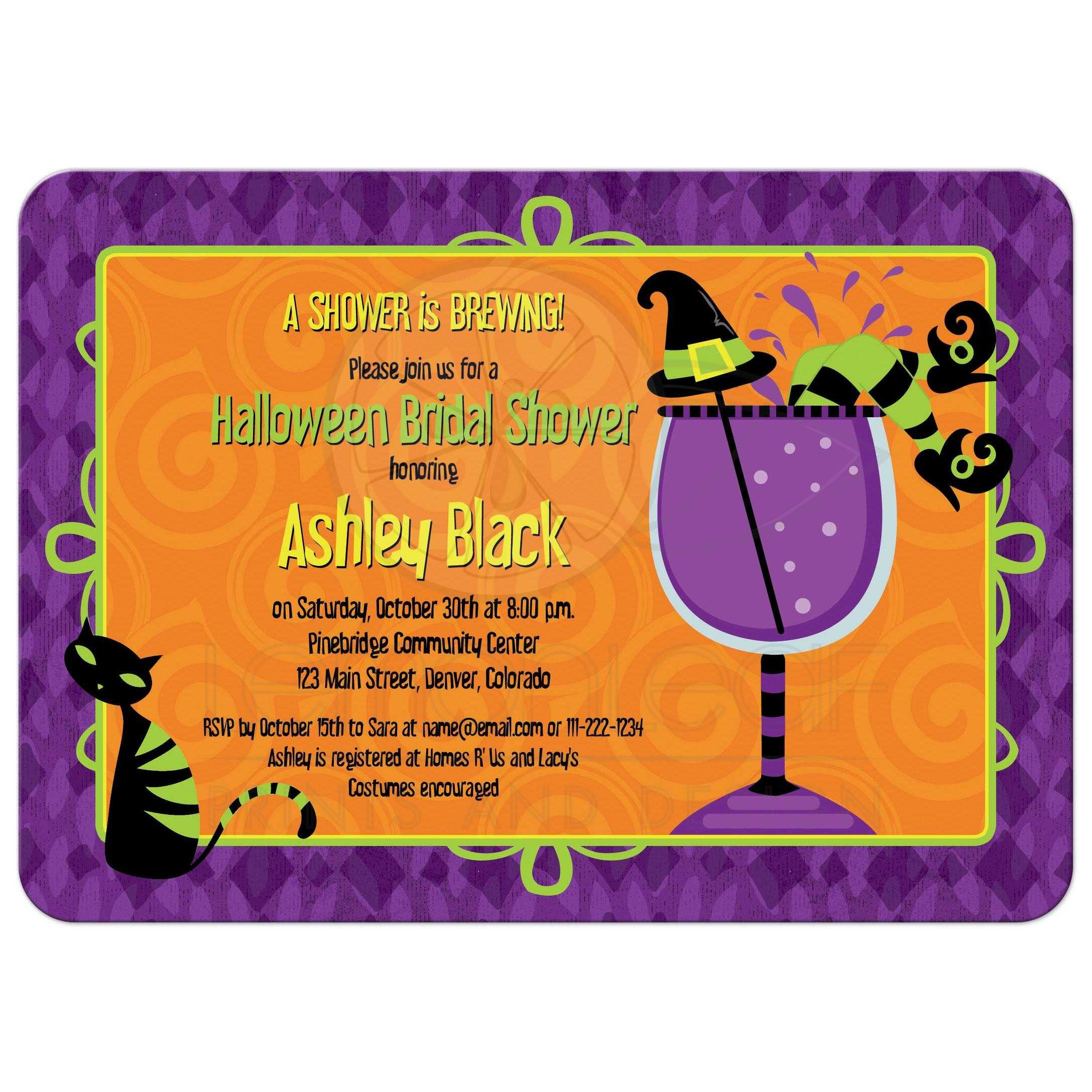 halloween witches brew label