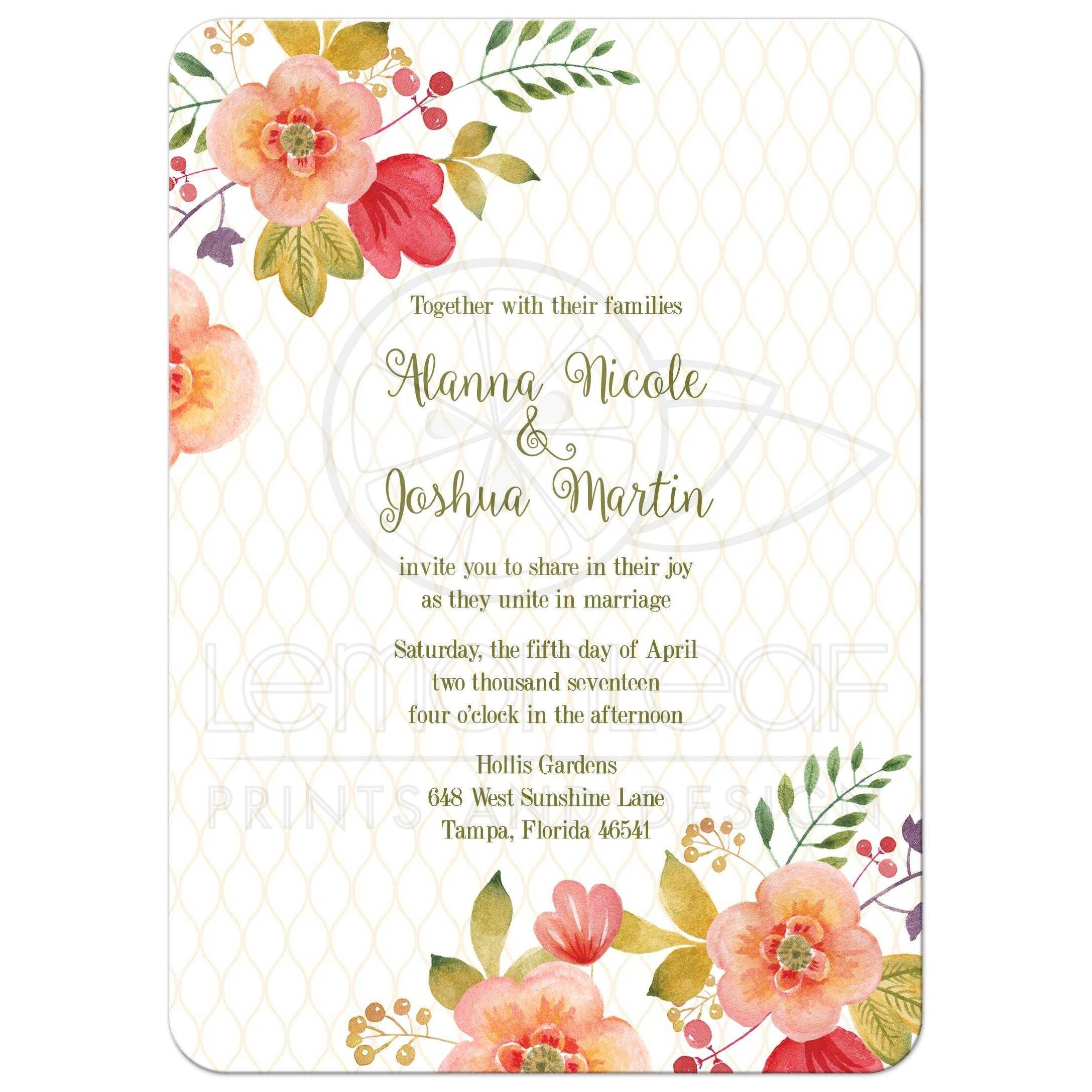 Purple And Green Wedding Invitations