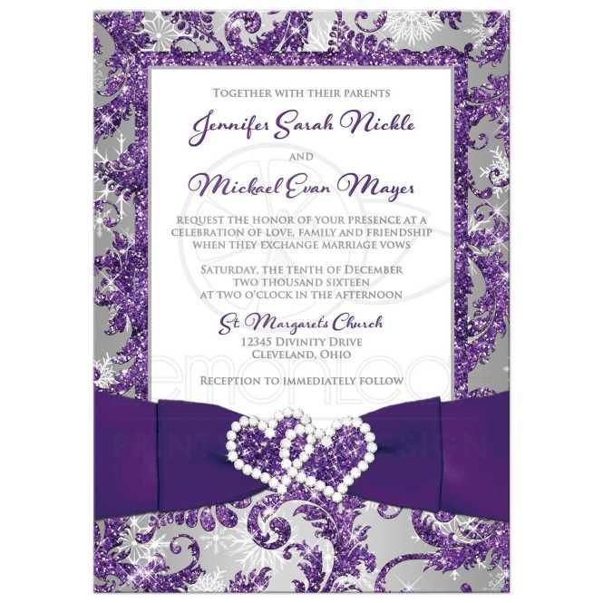Cadbury S Purple Wedding Invitations