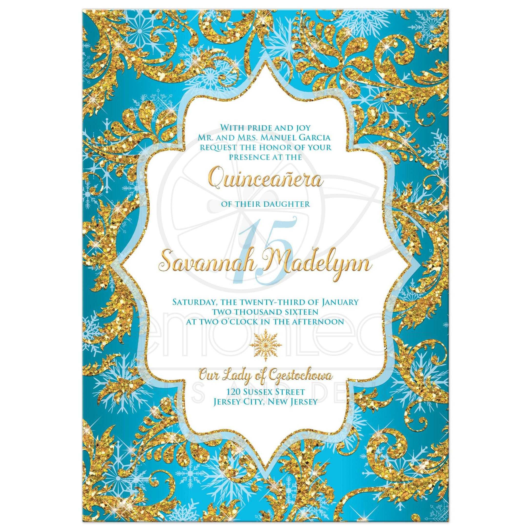 Christening Invitation Blue