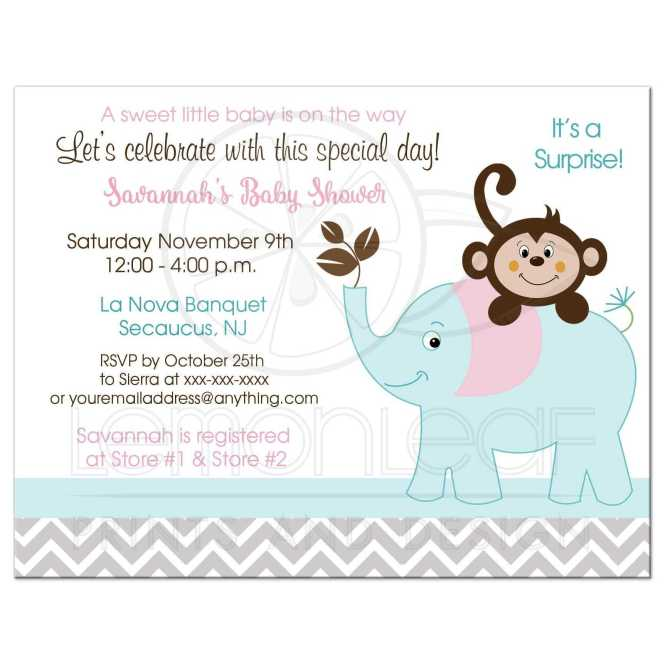 Gray Teal Baby Shower Invitations