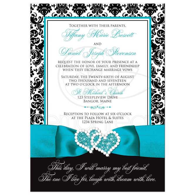 Light Aqua Blue Turquoise Fl Wedding Program