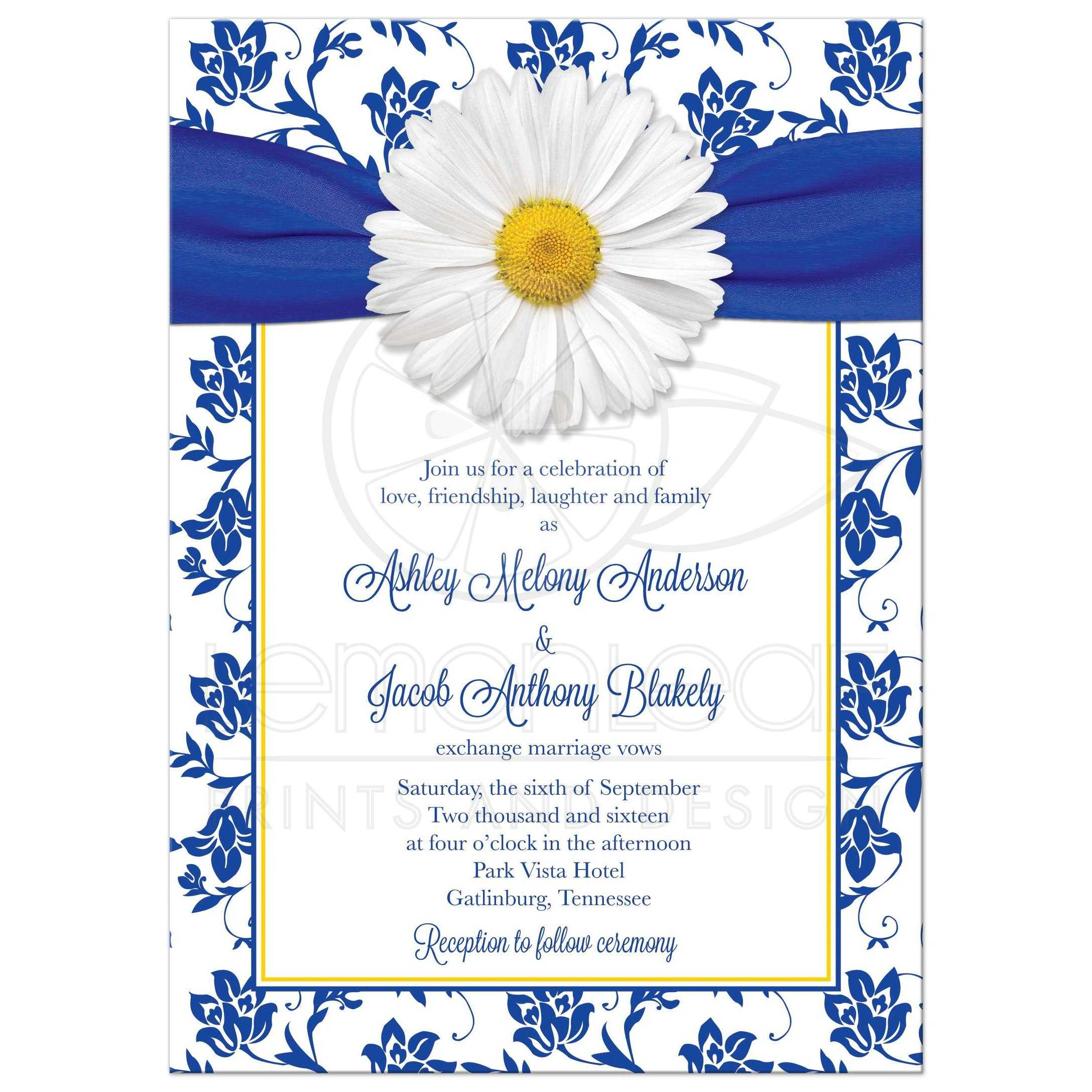 Yellow Baptism Invitations