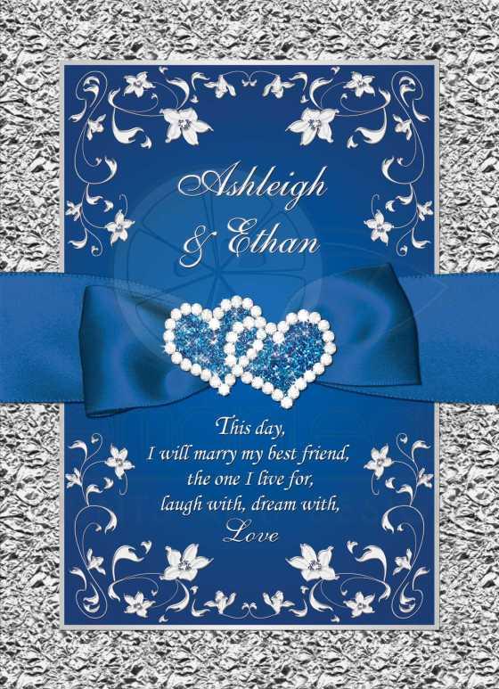 wedding invitation royal blue wedding invitation sample - Royal Blue And Silver Wedding Invitations