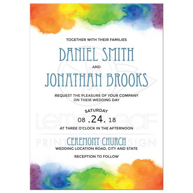 Pride Wedding Invitations With