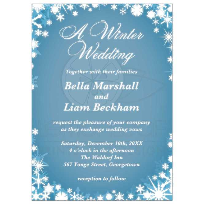 A Winter Wedding Invitation Light Blue