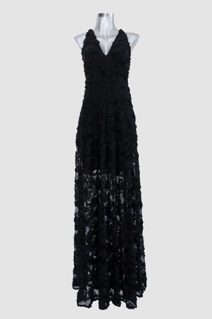 Vestido-largo-negro-cuello-V-transparencia-flores_F