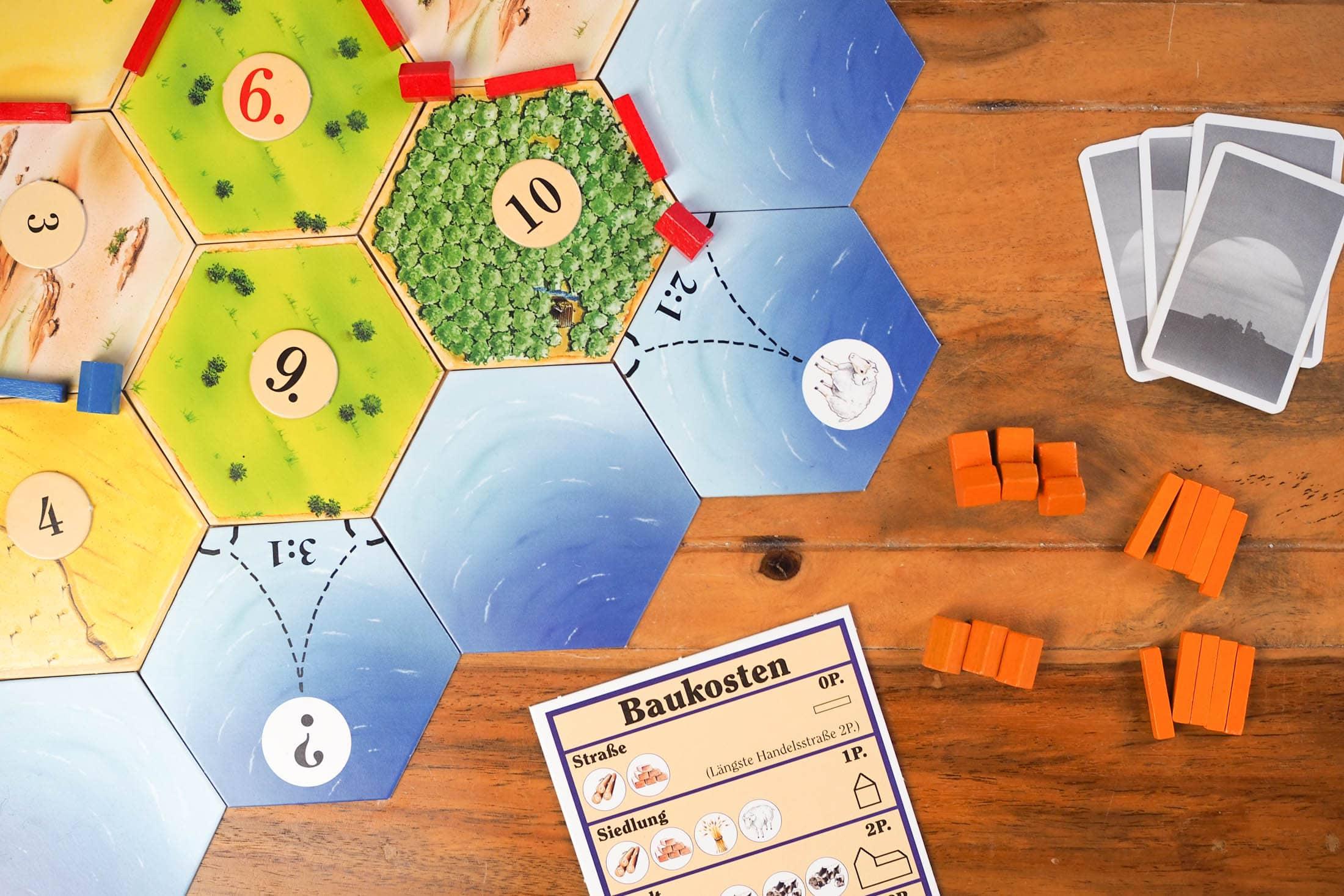 Bild von die Siedler von Catan. Aus dem Artikel: Unsere Top 5 Gesellschaftsspiele