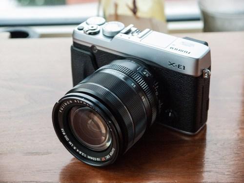 Le Fujifilm X-E1, vu du devant