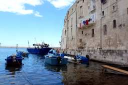 Boats just through the city wall