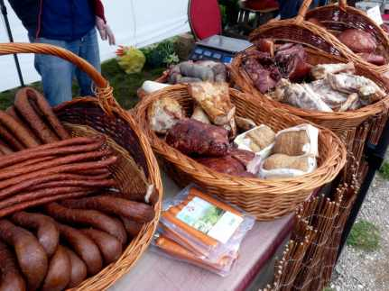 Sausage and cured meats are popular