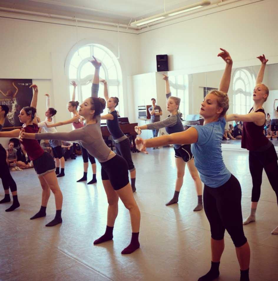 Robert Sher-Machherndl in reheasal at Lines Ballet
