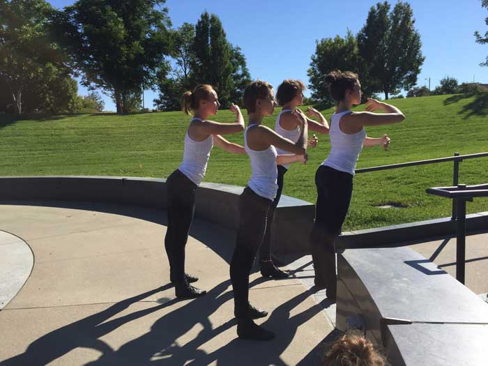 Lemon Sponge Cake Contemporary Ballet - rehearsing White Mirror at Babi Yar Park in rehearsal