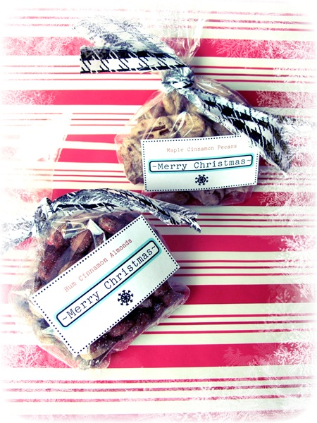 Rum Cinnamon Almonds or Maple Cinnamon Pecans