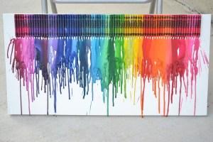 Pinned it, Did it:  Crayon Art