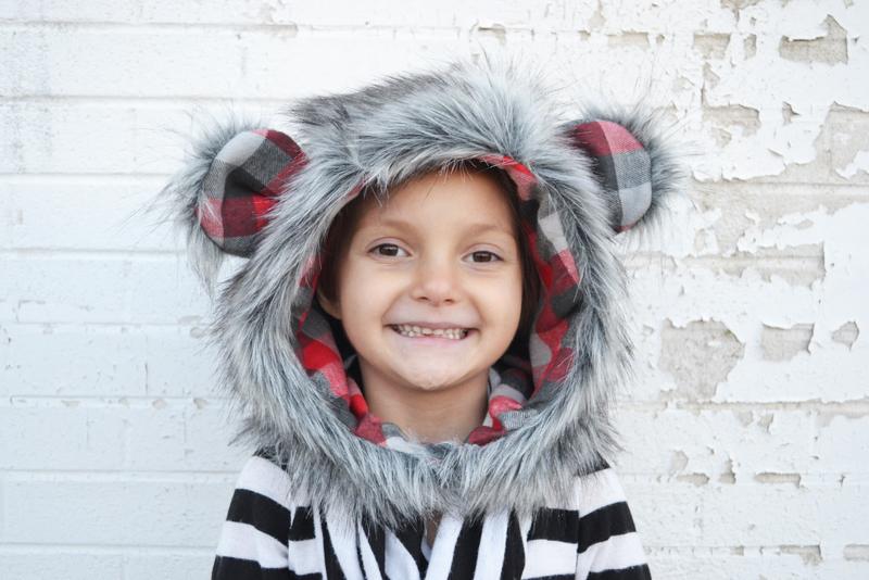 Faux Fur Hood Tutorial + Free Pattern in 6 Sizes!