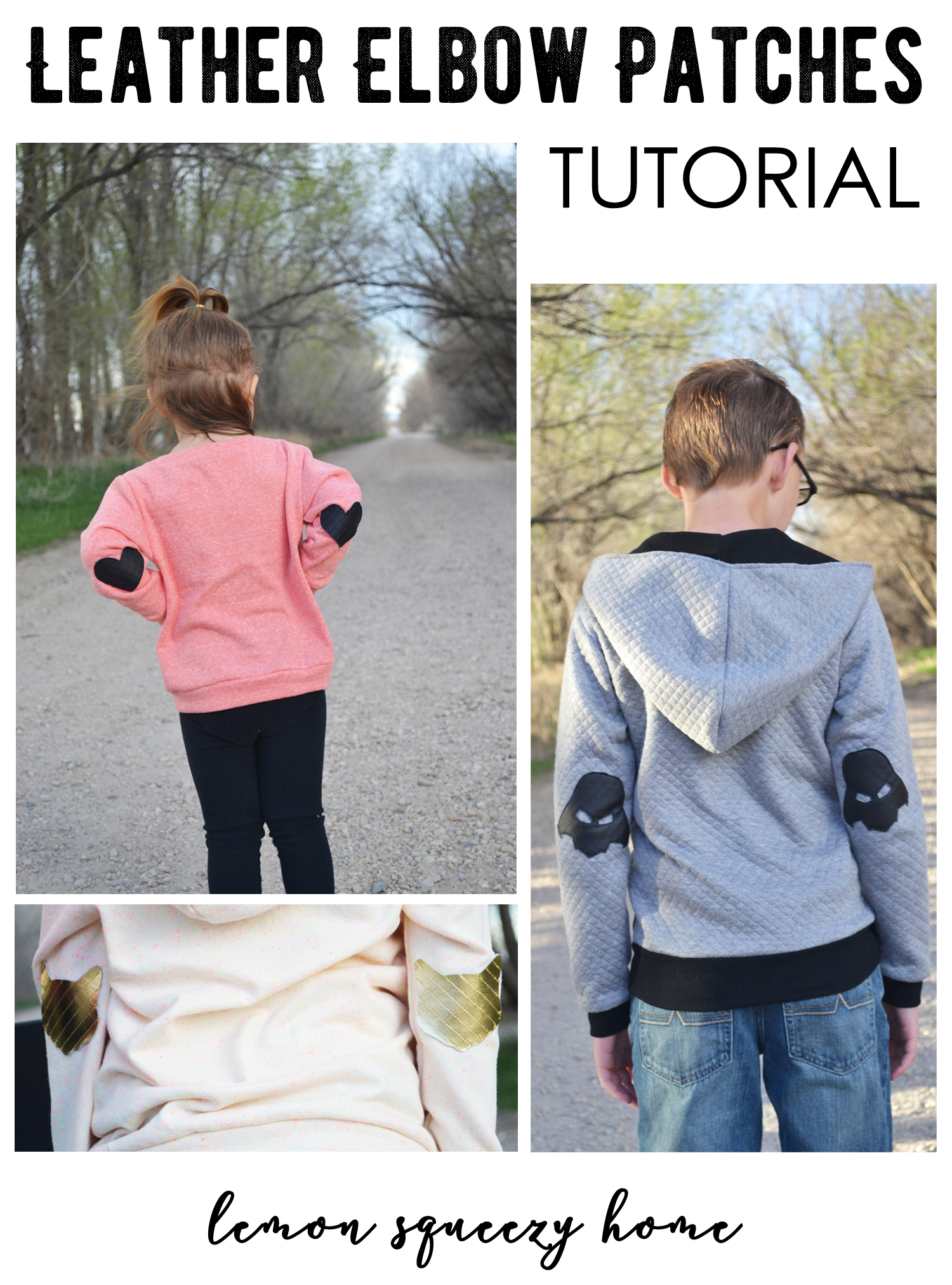 LeatherLeather Elbow Patch Tutorial // lemon squeezy homeElbow Patches