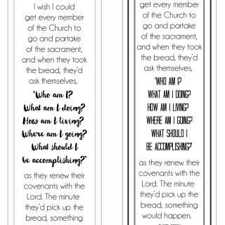 Sacrament Bookmarks {Elder Perry} // lemon squeezy home