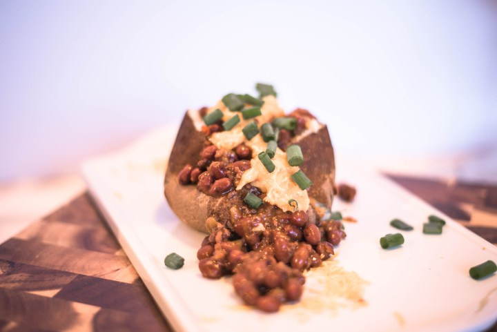 Trader Joe's chili baked potato