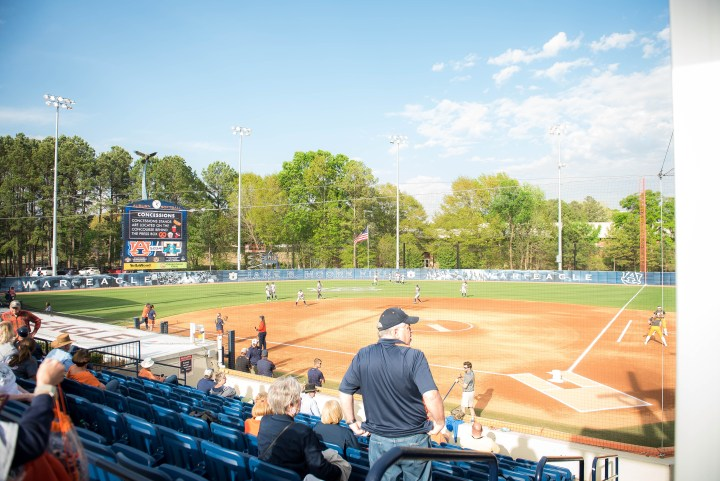 Auburn University womens softball kid friendly