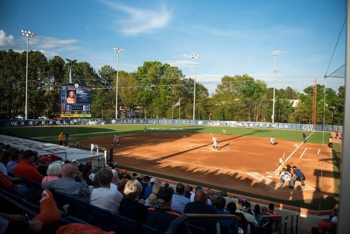 Auburn University womens softball kid friendly