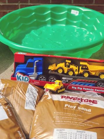 DIY toddler sandbox